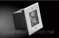 Светильник грунтовый GR-02 LED 3W /6500K 230V   IP65 размер  100мм*100мм*70мм, фото 2