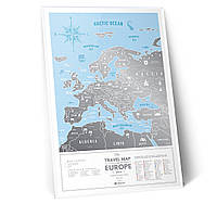 "Скретч карта Європи ""Travel Map Silver Europe"" (англ) (тубус)"