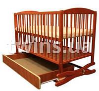 Детская кроватка Klups Radek II с ящиком tik