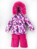 Зимний комбинезон костюм комплект для девочки Шары