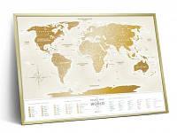 "Скретч карта світу ""Travel Map Gold World"" (рос) (тубус)"