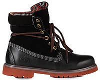 Женские ботинки Timberland Roll-Top Тимберленды черные