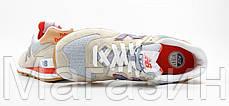 Мужские кроссовки New Balance 574 Нью Баланс 574 серые с бежевым, фото 2
