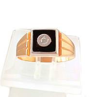 Золотой мужской перстень с фианитом 20.5