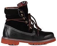 Мужские ботинки Timberland Roll-Top Black Тимберленды черные