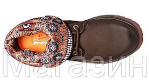 Женские ботинки Timberland Roll-Top Bandits Brown Тимберленд коричневые, фото 2
