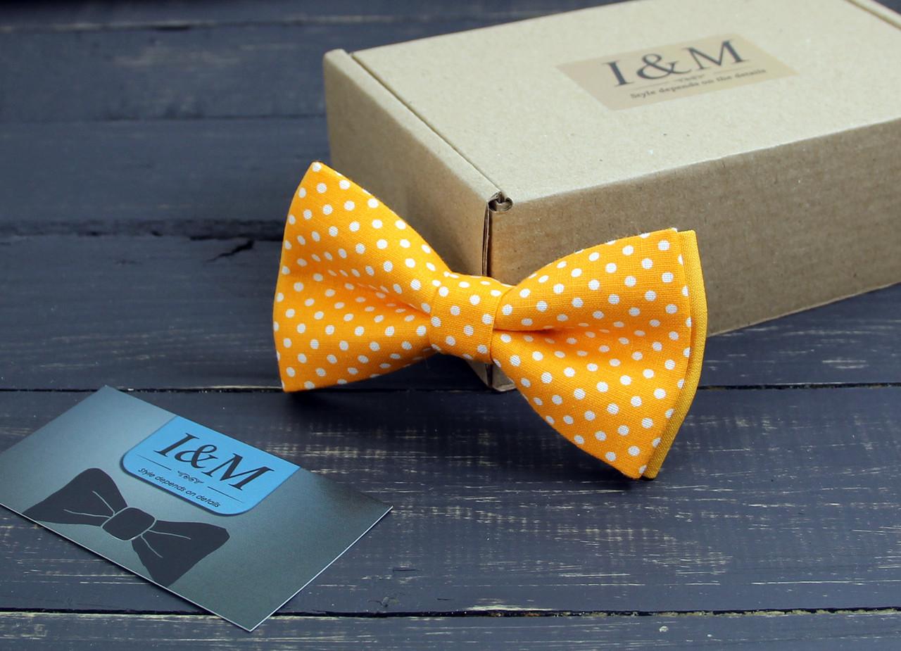Галстук-бабочка I&M Craft оранжевый в горошек (0105002025)