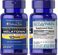 Puritan's Pride, Мелатонин, 10 мг, 60 таблеток