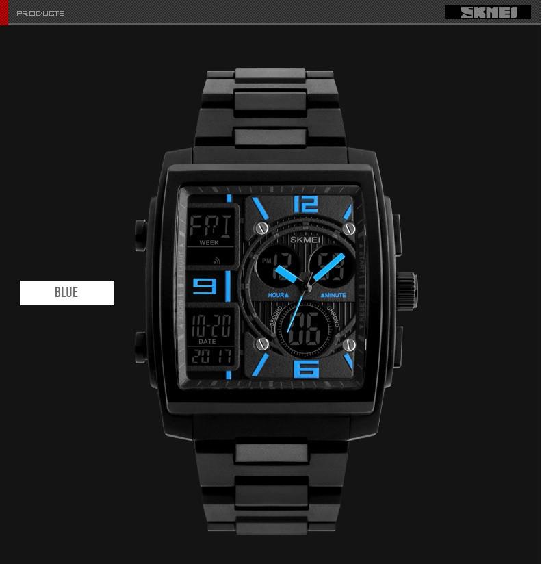 Мужские наручные часы SKMEI 1274 голубые