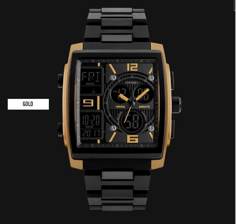 Мужские наручные часы SKMEI 1274 коричневые