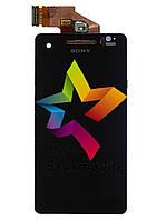 Дисплей для мобильного телефона Sony LT25i/Xperia V, черный, с тачскрином, AAA