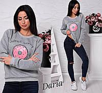 Женский свитшот Пончик в разных цветах