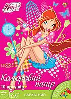 № 6 набор цветной бумаги бархатной А4 10 листов 10 цветов 950537 1 Вересня