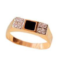 Золотой мужской перстень с ониксом 20.0