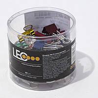 Биндер №15 цветной металлический L1111 ТМ LEO 140091