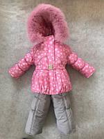 Зимний комбинезон костюм комплект для девочки Снежинка-звездочка