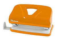 Дырокол 10 листов пластик  D1219-11 оранжевый ТМ Datum 240122