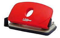 Дырокол 10 листов пластик  L1422-06 красный ТМ LEO