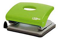 Дырокол 16 листов пластик  L1419-09 салатовый ТМ LEO