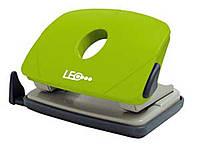 Дырокол 16 листов пластик  L1423-08 зеленый ТМ LEO 240149
