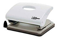 Дырокол 16 листов пластик  L1419-18 белый ТМ LEO 240138