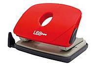 Дырокол 16 листов пластик  L1423-06 красный ТМ LEO