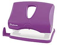 Дырокол 20 листов пластик  D1218-12 фиолетовый ТМ Datum