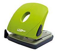 Дырокол 25 листов пластик  L1424-08 зеленый ТМ LEO
