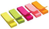 Индексы бумажные прямоугольные 51х 15мм (50л х 5 цв.) L1216 170147 Leo