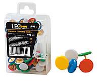 Кнопки цветные 100 штук L1911 ТМ LEO 140130