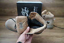 Мужские зимние ботинки Shark кожаные,оливковые., фото 3