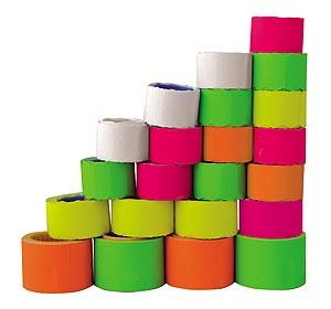 Ценник TCBL 26*12 мм.  6  метра овал 500 штук ролик (зеленый) - Киндермир интернет магазин - игрушки, рюкзаки школьные и канцтовары Продажа рюкзаков т.+380931402185 в Чернигове