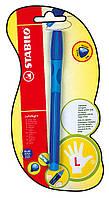 Ручка шариковая для левши синяя STABILO LEFTRIGHT, чернила синие в блистере