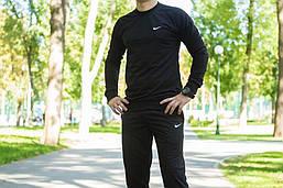 Осенне весенний мужской спортивный костюм Найк, черный Nike