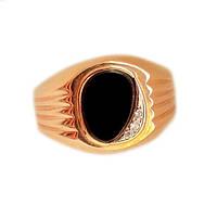 Золотой мужской перстень с ониксом 20.5