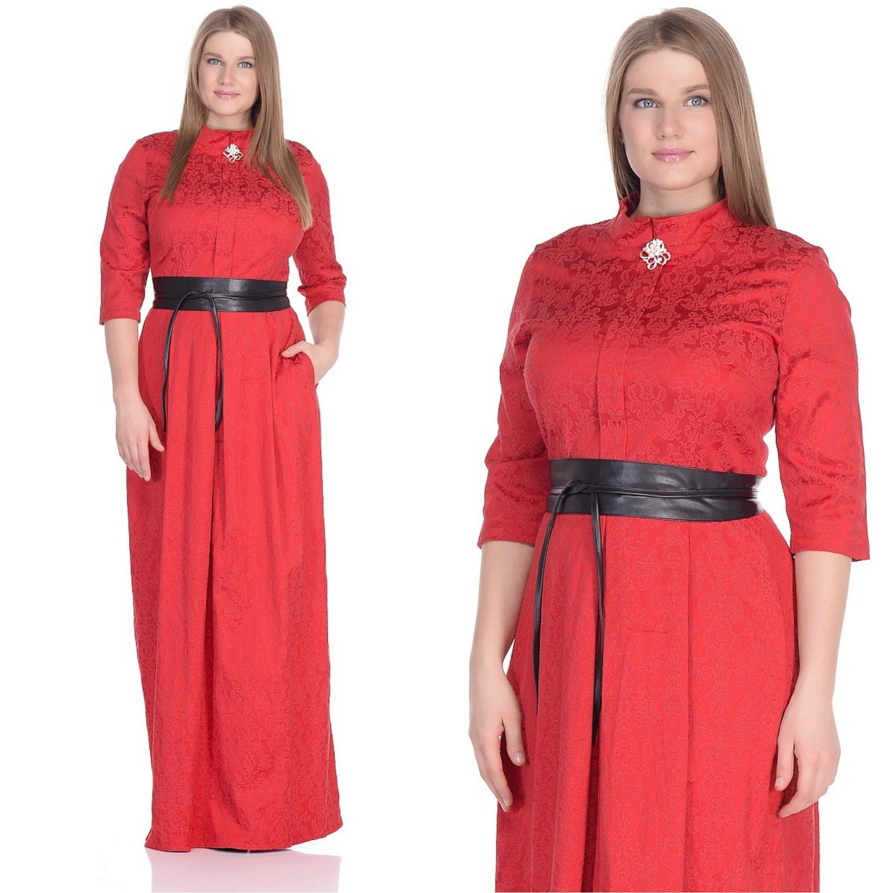 b5152b525a3 Красное платье с поясом  продажа