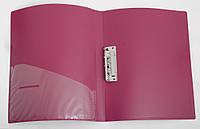 Папка с бок. заж. и карманом A4 D1804-03 бордовая