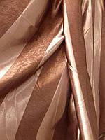 """Ткань портьерная блэкаут """"Жалюзи"""", коричневый"""