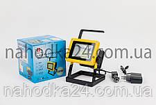 Переносной фонарь X-Balog 204  светодиодный прожектор 100W на 3 аккумулятора, фото 3