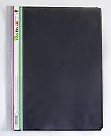 Скоросшиватель пластик. А4 черный/св.серый, с перф. D2220