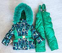 Зимний комбинезон костюм комплект для девочки Снеговик