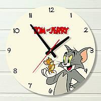 """Часы в детскую - """"Tom & Jerry"""" (на пластике)"""