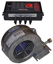 Комплект блок управління Polster C-11 і вентилятор DM-120 для твердопаливного котла (аналог ATOS)