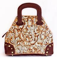 """Оригинальная женская сумочка """"Мозаика"""", из натуральной кожи ручной работы"""