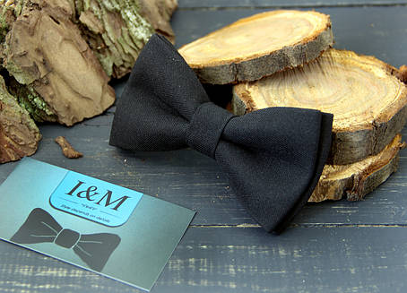 Галстук-бабочка I&M (00087) черный, фото 2