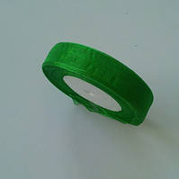 Лента органза 1,6 см зеленый 50 ярд.