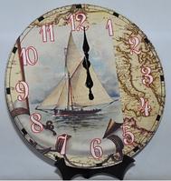 "Часы настенные ""Морская Радуга"" (34 см) из МДФ"