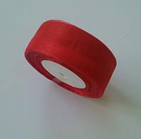 Лента из органзы 4 см красная 50 ярд флористическая, фото 1