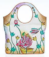 Оригинальная женская сумочка, из натуральной кожи с ручной росписью