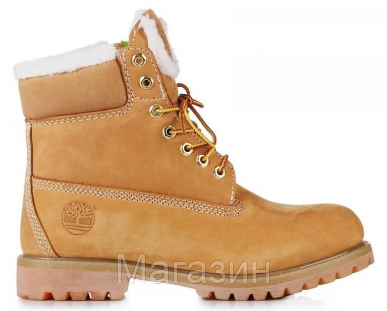 fc468d97 Женские зимние ботинки Timberland Classic 6 Тимберленд С МЕХОМ рыжие -  Магазин обуви New York в